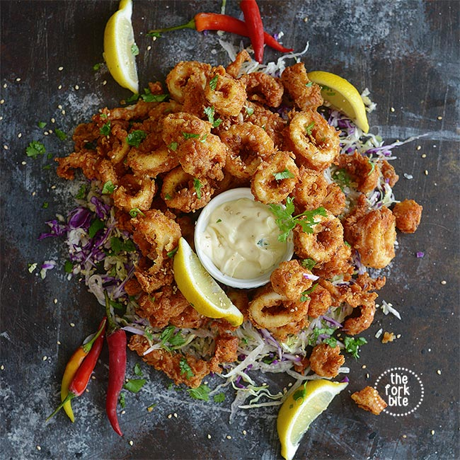 This is the best Fried Calamari Recipe ever, they are tender in the inside and crispy fried to golden brown perfection.