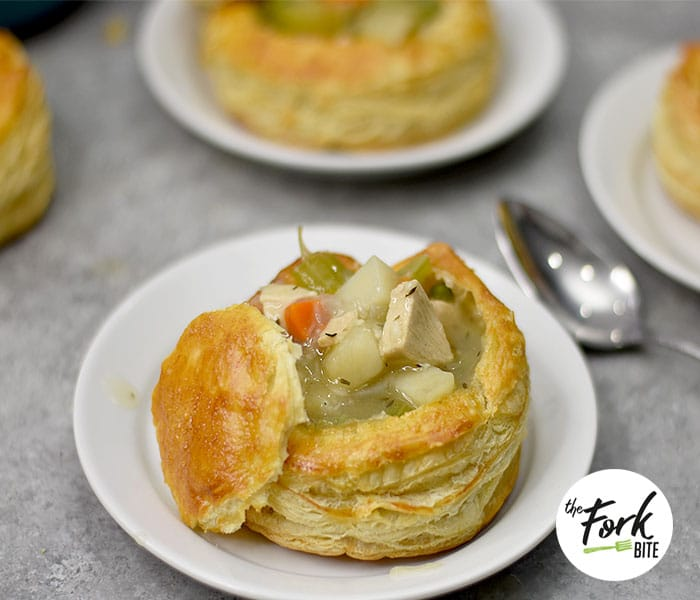 Use your leftover chicken and store-bought puff pastry to make this Chicken Pot Pie puff pastry easy to prepare.