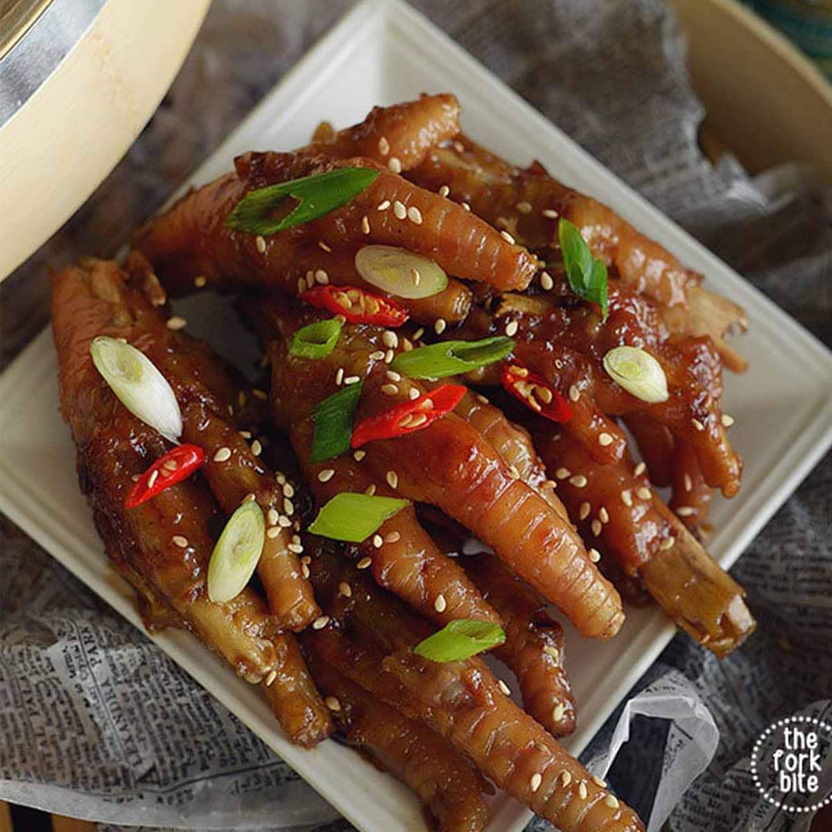 These Chicken Feet recipe are braised in a flavorful, umami packed liquid that rival the dim sum or Yum Cha restaurant.